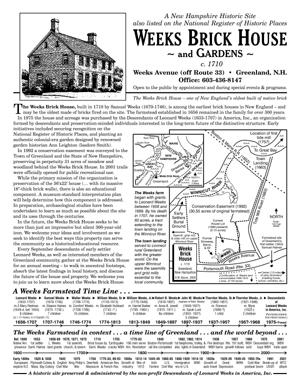WBH Flyer of Timeline
